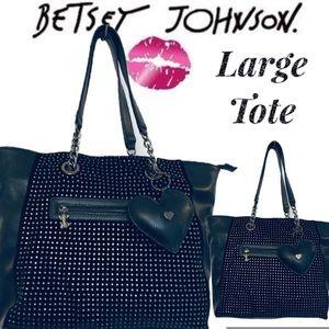 Betsey Johnson LG Jeweled Lg Shopper/Tote/Shoulder